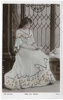 Miss Eva Moore Tinted Real Photo Glitter - C1907 - Davidson Bros - Famous Ladies