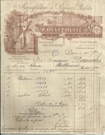 Facture - Manufacture De Papiers Peints - P. DELEPOULLE - 1909 - Bon état - Francia