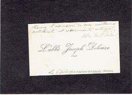 TOURINNE-LA-CHAUSSEE ( BRAIVES ) 1910 ANCIENNE CARTE DE VISITE - L'Abbé Joseph DELEUZE - Curé - Visitekaartjes