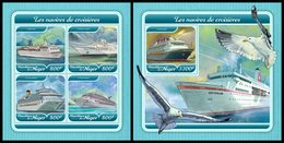 NIGER 2017 - Cruise Ships - YT CV=39 €, 4455-8 + BF825 - Ships
