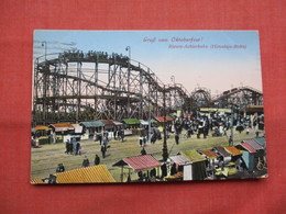Munchen  Octoberfest Roller Coaster   Himalaja Bahn  Stamp   & Cancel  Ref  3483 - To Identify