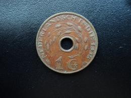 INDES NÉERLANDAISES : 1 CENT   1938 (u)     KM 317      TTB - [ 4] Colonies