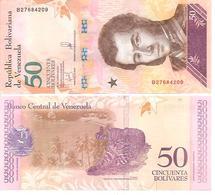 Venezuela   New   50 Bolivares  15 1 2018  UNC - Venezuela