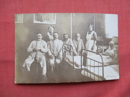 Rppc Men In Hospital With Nurses       Stamp   & Cancel  Ref  3483 - To Identify