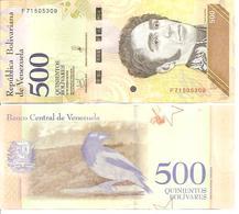 Venezuela   New   500 Bolivares  15 1 2018  UNC - Venezuela