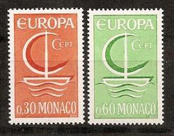 Monaco, 1966, Europa CEPT, 2 Stamps - Europa-CEPT