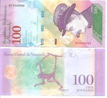 Venezuela   New   100 Bolivares  15 1 2018  UNC - Venezuela