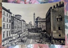 Bologna Via Rizzoli Animata VIAGGIATA Anni 50 - Italia