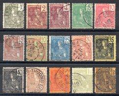 INDOCHINE - YT N° 24 à 38 - Cote: 110,00 € - Gebraucht