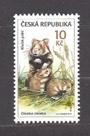 Czech Republic 2011 MNH ** Mi 687 Sc 3505 European Hamster, Cricetus Cricetus.Tschechische Republik. - Czech Republic