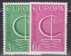 Belgium, 1966, Europa CEPT, 2 Stamps - Europa-CEPT