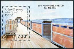 Laos 1992  BF 122 ; Block 145 **  MNH  Trains - Laos
