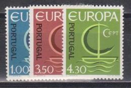 Portugal, 1966, Europa CEPT, 3 Stamps - Europa-CEPT