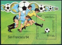Laos 1992  BF 124 ; Block 147 **  MNH  Football World Cup, USA (III) - Laos