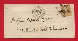 LSC - Seine - Paris -Etoile 22  Sur N°21- Rue Du Helder - 1865 - Marcophilie (Lettres)