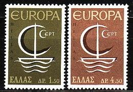 Greece, 1966, Europa CEPT, 2 Stamps - Europa-CEPT