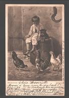 Beim Frühstück / Breakfast / Déjeuner - 1904 - Child / Enfant - Single Back - Illustrateurs & Photographes