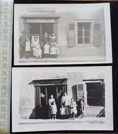 CPA 2 Cartes Photo D90 Delle, Boulangerie, Café, Restaurant, Beau Plans Avant Et Apres Restauration De La Facade - Delle