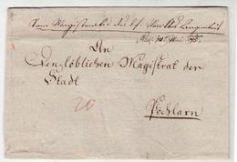 Austria Prephilately Letter Cover Travelled 1845 To Pöchlarn B190715 - ...-1850 Vorphilatelie