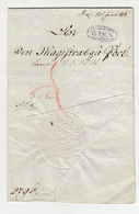 Austria Prephilately Letter Travelled 1818 Wien B190715 - ...-1850 Vorphilatelie