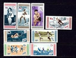Dominican Republic 501-05 And C106-08 MNH 1958 Olympics - Dominican Republic
