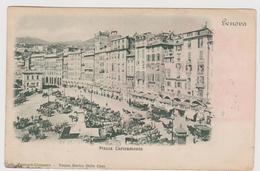GENOVA, Piazza Caricamento  - F.p. -fine '1800 / Primi '1900 - Genova (Genoa)