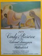 10979 - Cindy's Réserve Cabernet Sauvignon 1979 Afrique Du Sud Artiste Simon Jones Spécimen - Kunst