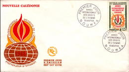 Nouvelle Calédonie FDC N° 353 10 Août 1968 - FDC
