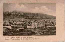 Cpa BULARIE/BULGARIA SOFIA / SOPHIA Vue Générale De La Ville Et De La Vitocha (massif Montagneux) Peu Courante - Bulgaria