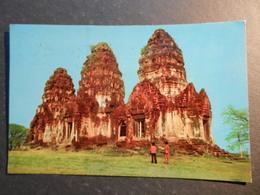 19957) THAILAND THREE ANCIENT PAGODAS IN LOPBURI VIAGGIATA - Tailandia