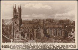 Tideswell Church, Derbyshire, C.1920s - Grenville Series RP Postcard - Derbyshire