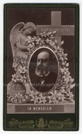CDV Annonce Mortuaire De Monsieur Benjamin Constant Ingels Médecin. CDV Edmond Sacré Photographie, Gand. - Photos