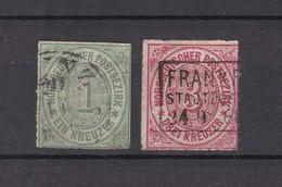Norddeutscher Postbezirk - 1868 -  Michel Nr. 7+9 - Gest. - North German Conf.