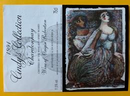 10993  - Cindy's Collection  Chardonnay  1991 Afrique Du Sud Soft Leaves The Singers Artiste Martin Wankidu  Spécimen - Kunst