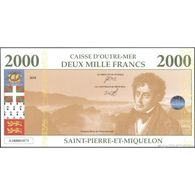 TWN - SAINT-PIERRE (private Issue) - 2000 2.000 Francs 2018 Polymer - Chateaubriand UNC - Banknotes