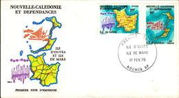 Nouvelle Calédonie FDC N° 426 427 17 Février 1979 - FDC