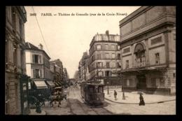 75 - PARIS - 15EME - THEATRE DE GRENELLE RUE DE LA CROIX NIVERT - TRAMWAY - Paris (15)