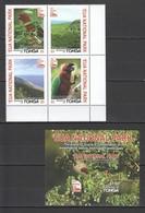 CC570 2017 TONGA FAUNA BIRDS PARROTS EUA NATIONAL PARK !!! MICHEL 32 EURO !!! 1SET+1BL MNH - Perroquets & Tropicaux