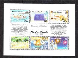Pitcairn  -  1991. Celebrazioni. Uomini In Barca. Cricket. Messa. Men In The Boat, Christian Mass. MNH RARE - Cricket
