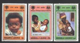 Sierra Leone - Leona 1979 Yvert 415-17, International Year Of The Children  - MNH - Sierra Leone (1961-...)
