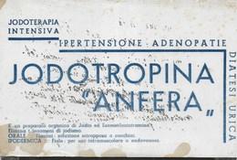 PUBBLICITA' FARMACO  JODOTROPINA ANFERA -  SU CARTA ASSORBENTE USATA - 22X14 - Carte Assorbenti