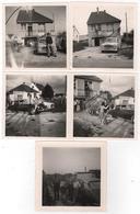 Photo Originale La CITROEN DS Et La PEUGEOT 203  Du Loir Et Cher Village à Localiser Accordéon Lot De 5 - Cars