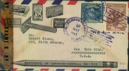 1943, Superb Advertising Airmailcover From EL SALVADOR To USA, Censor - El Salvador