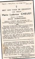 M.CNEUDT °ZILLEBEKE 1860 +MOESKROEN 1944 (J.DOBBELAERE) - Religion & Esotérisme