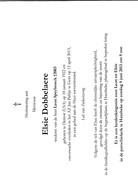 E.DOBBELAERE °DETROID USA 1922 +GENT  (L.SPEYBROECK) - Religion & Esotérisme
