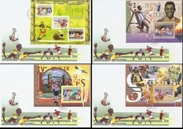Guinea 2007, Olympic Games, Athletic, Tennis Table, Gymnastic, 3val In BF +3BF In 4FDC - Guinea (1958-...)