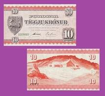 Faeroe Islands 10 Kronur 1949 - Féroé (Iles)