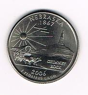 -0-  U.S.A.  1/4 DOLLAR  NEBRASKA   2006 P - Emissioni Federali