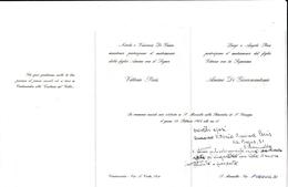 PARTECIPAZIONE NOZZE DEL 1963 - CIVITAVECCHIA S.MARINELLA - PRANZO NUZIALE ALLA TRATTORIA DEL GOBBO A CIVITAVECCHIA - Annunci Di Nozze