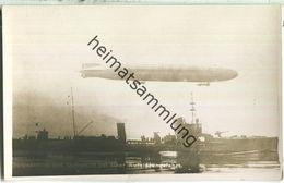 Torpedoboot Mit Luftschiff Auf Aufklärungsfahrt - Foto-Ansichtskarte - Warships